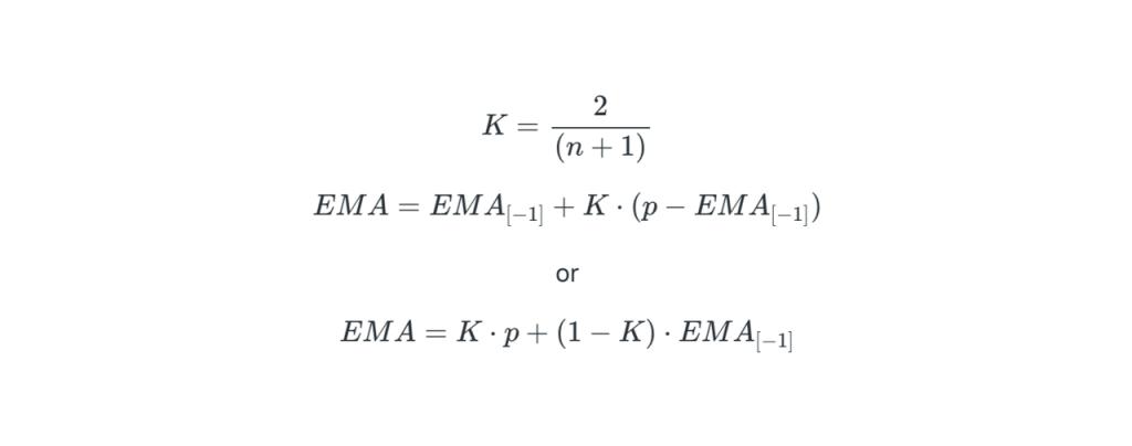 Công thức tính EMA
